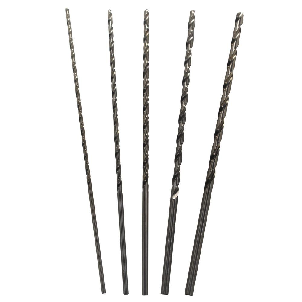 Drill America 18 in. High Speed Steel Extra-Long Drill Bit Set (5-Piece)