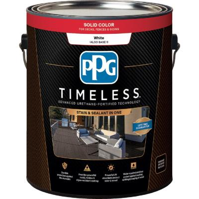 PPG TIMELESS 1 gal. TSC-53 White/Base 1 Solid Color Exterior Wood Stain