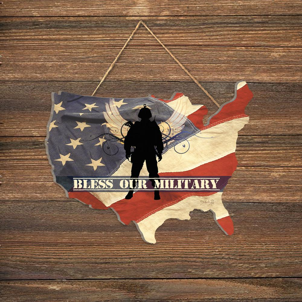 """Trendy Decor 4U """"Bless Our Military"""" By Marla Rae Wood"""