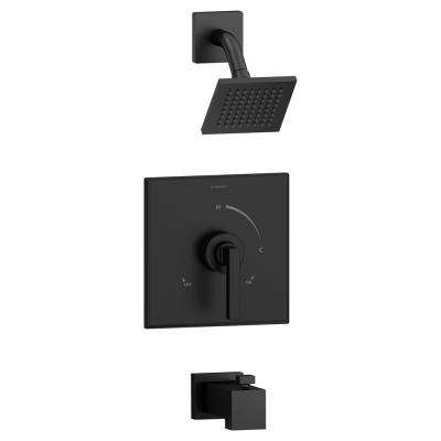 Duro Single-Handle 1-Spray Tub and Shower Faucet in Matte Black (Valve Included)