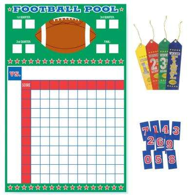 27 in. Football Pool Game With Ribbons