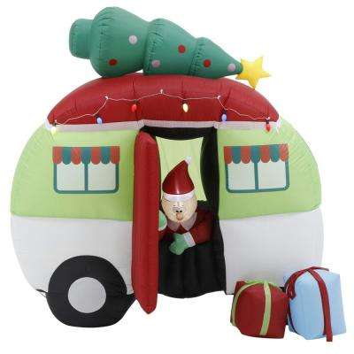 7 ft. Pre-lit Inflatable Christmas Holiday INF Camper