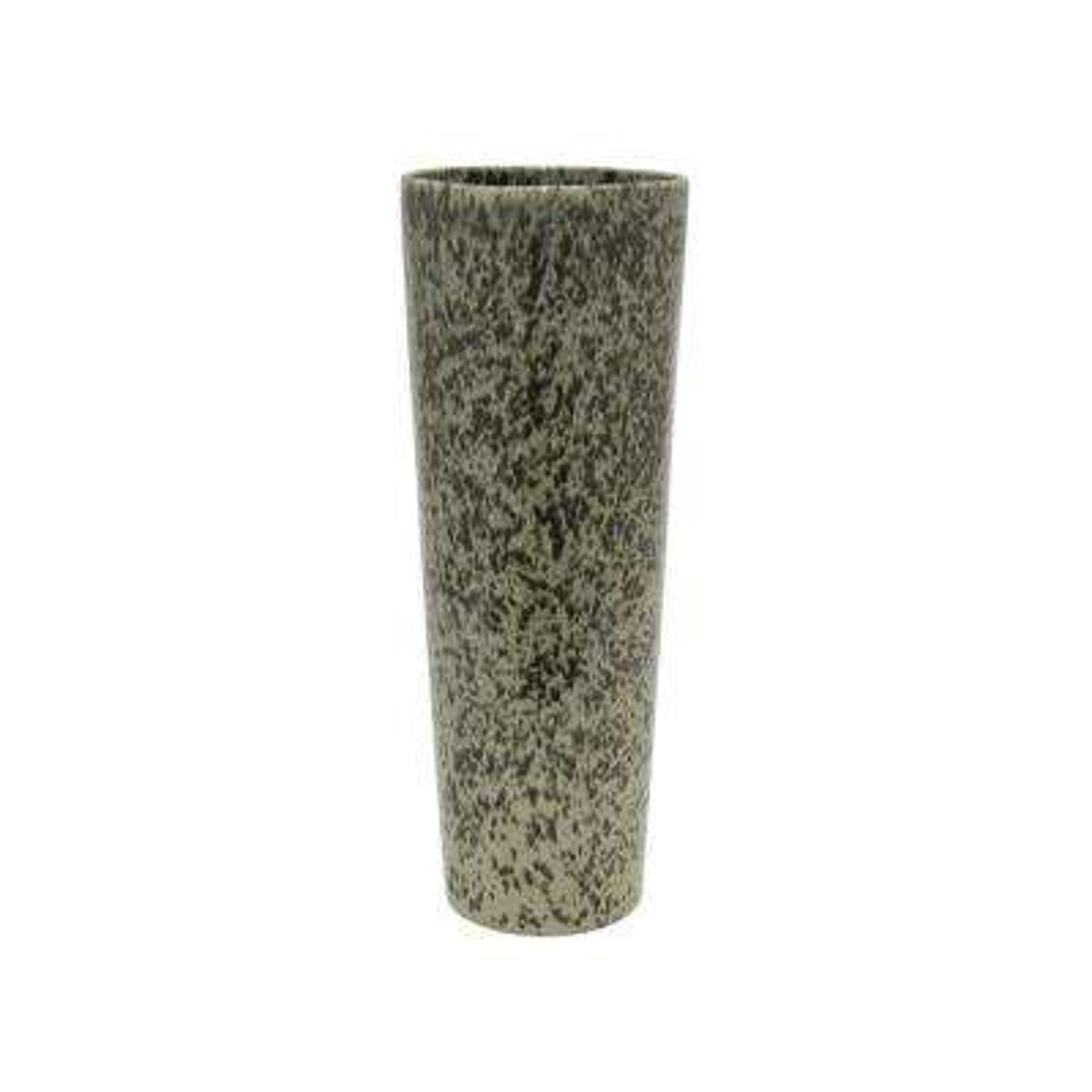 Black and White Ceramic Decorative Vase with Glossy Finish