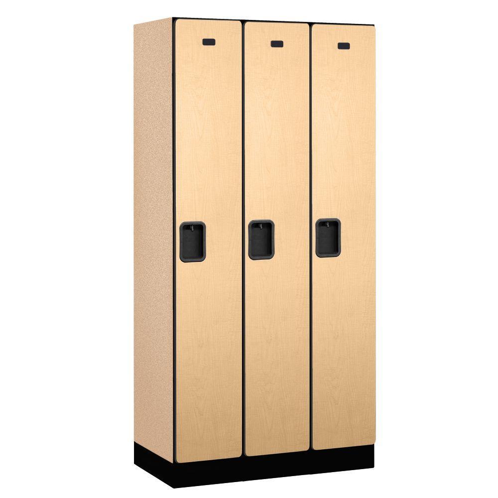 31000 Series 36 in. W x 76 in. H x 18 in. D Single Tier Designer Wood Locker in Maple