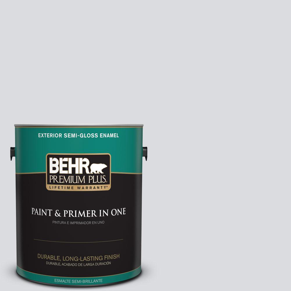 1-gal. #N540-1 Script White Semi-Gloss Enamel Exterior Paint