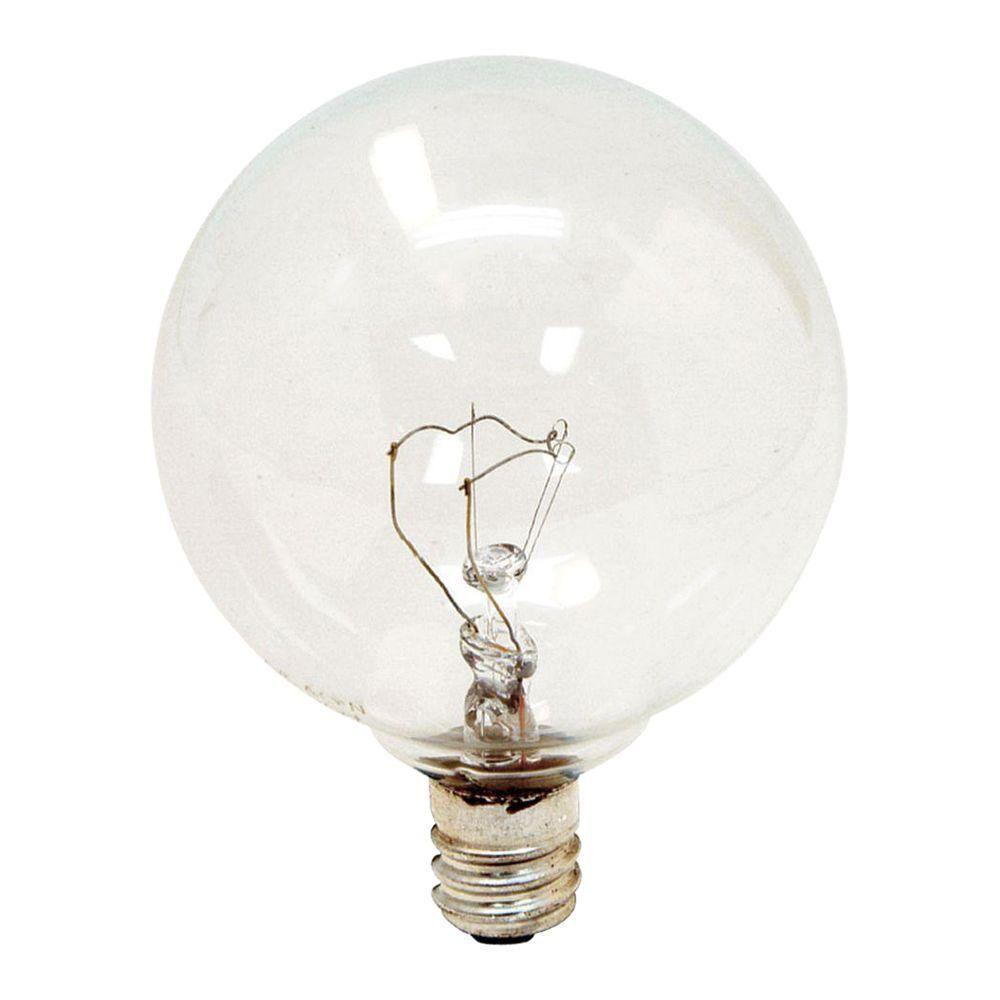 Ge 40 watt incandescent g165 globe candelabra base clear light ge 40 watt incandescent g165 globe candelabra base clear light bulb 4 arubaitofo Gallery