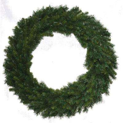 48 in Unlit Multi Pine Wreath with  tips