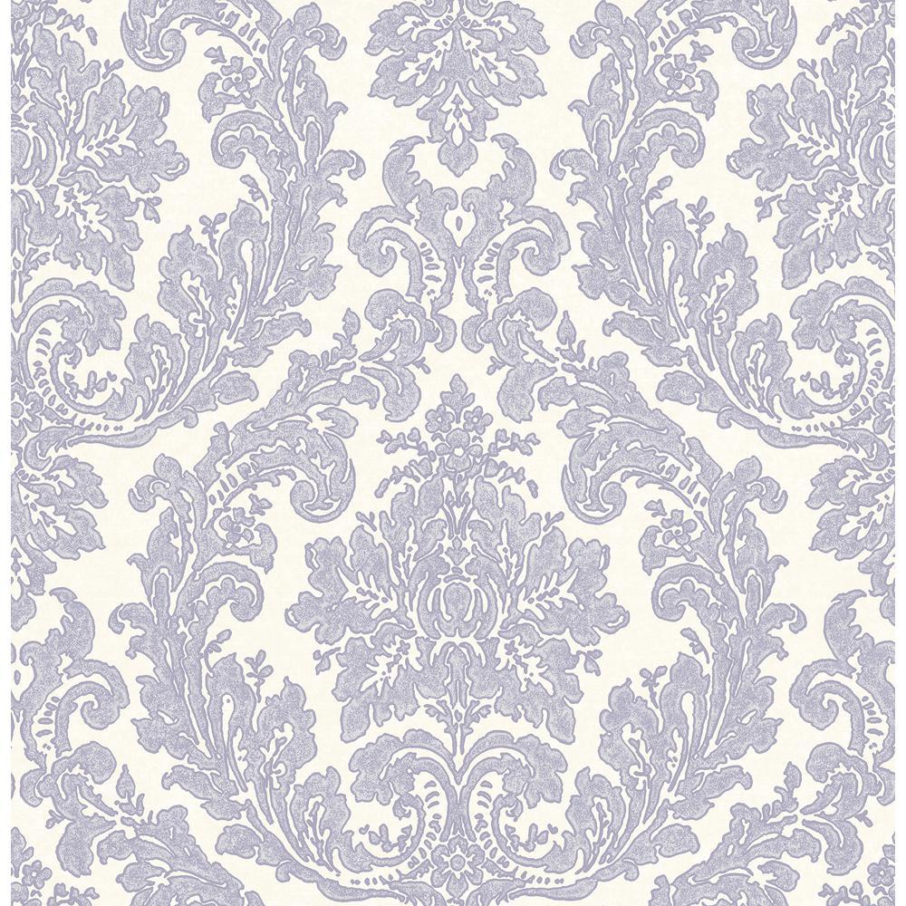 Reims Lavender Damask Wallpaper