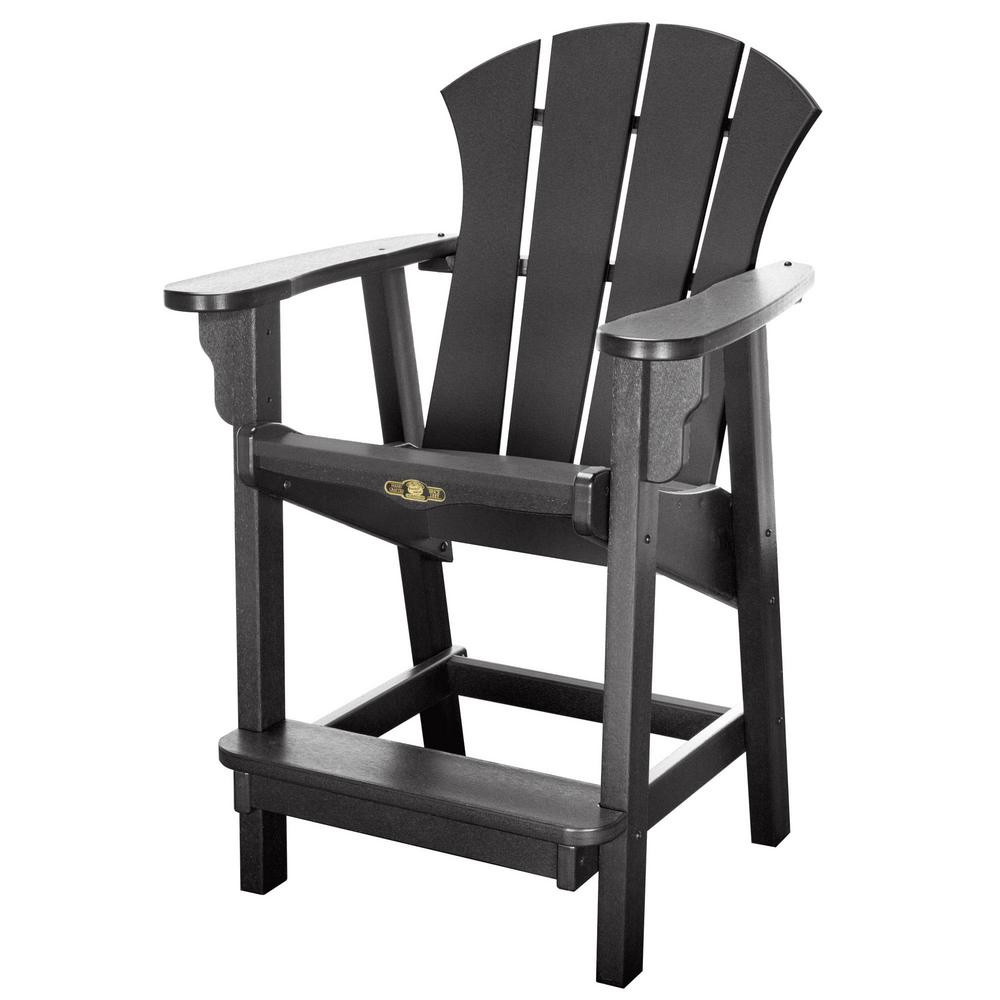 Durawood Sunrise Plastic Outdoor Dining Chair In Black