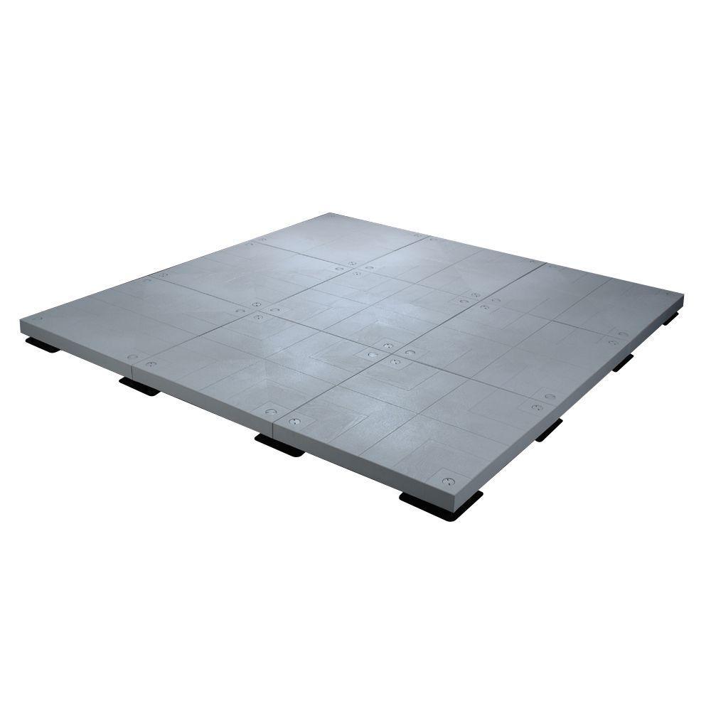 10 ft. x 10 ft. 100 sq. ft. Flint Grey Patio Deck Starter Kit