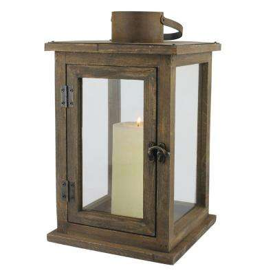 8 in. W x 13 in. H Rustic Brown Lantern