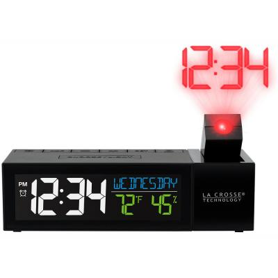 Pop-Up Bar Projection Alarm Clock with USB Charging Port