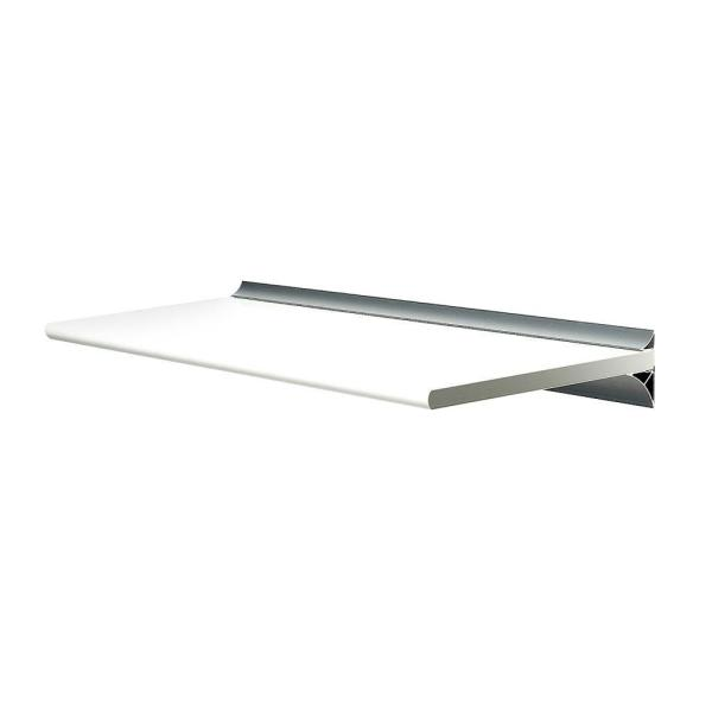 Gallery White Shelf with Silver Bracket Shelf Kit (Price Varies By Size)