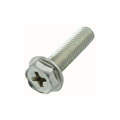 #8-32 x 3/4 in. Phillips Hex Zinc Plated Machine Screw (50-Pack)