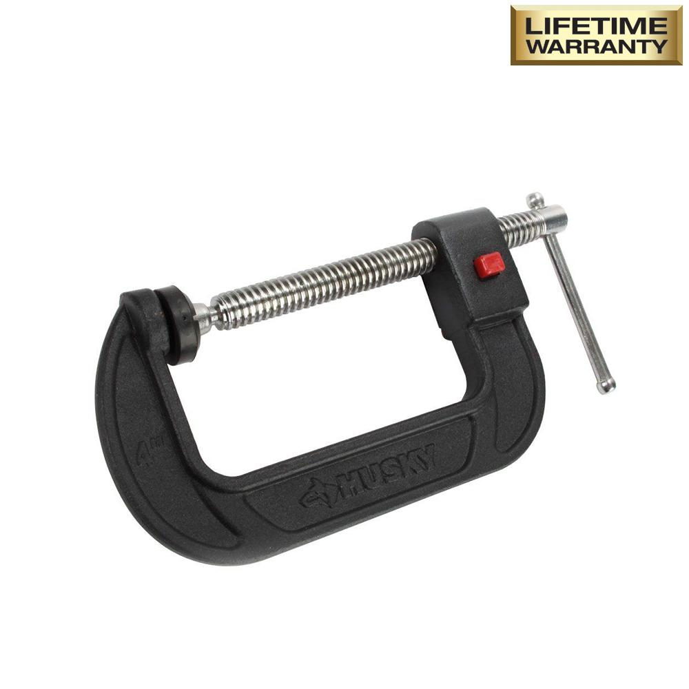 Husky 4 In Quick Release Clamp 012384 The Home Depot