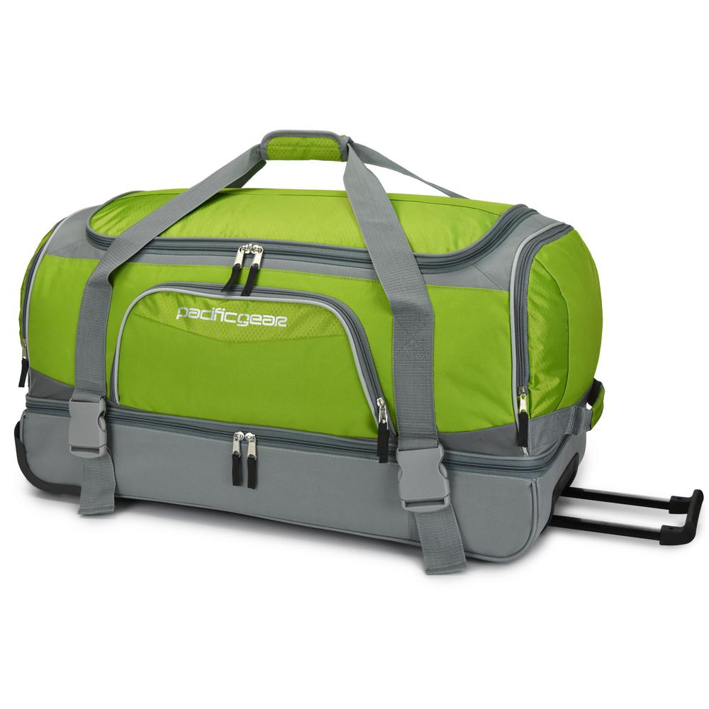 Traveler's Choice 30 in. Drop-Bottom Green Rolling Duffel