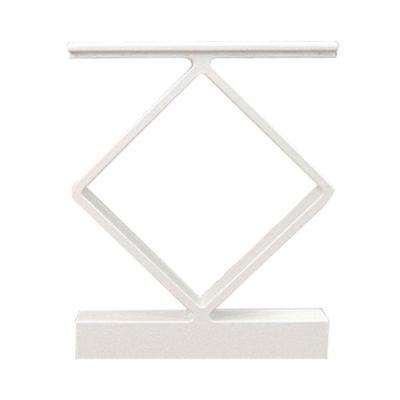 White Aluminum Decorative Handrail Spacer (4-Pack)
