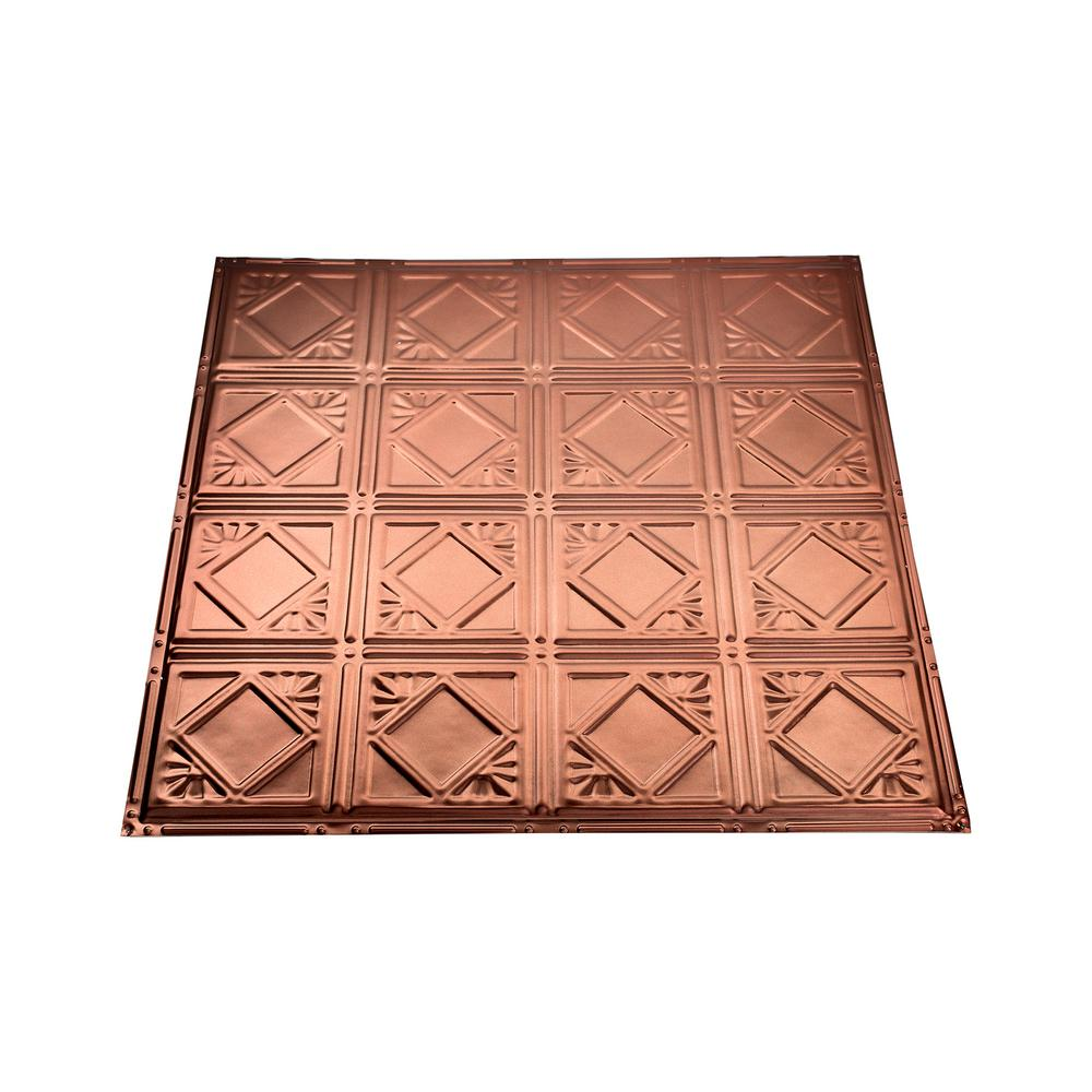 Great Lakes Tin Ludington 2 Ft X 2 Ft Nail Up Metal Ceiling Tile In Vintage Bronze Case Of 5 T57 09 The Home Depot