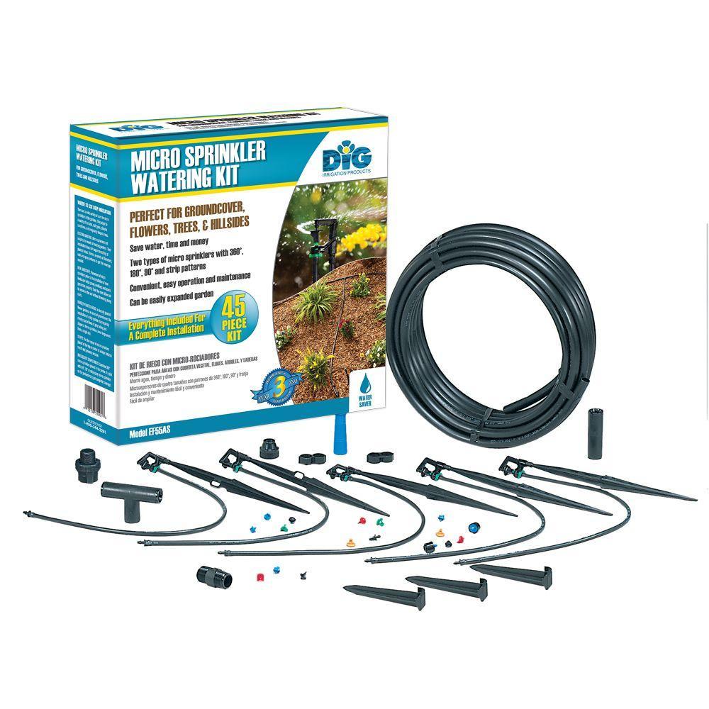 dig micro sprinkler watering kit ef55as the home depot