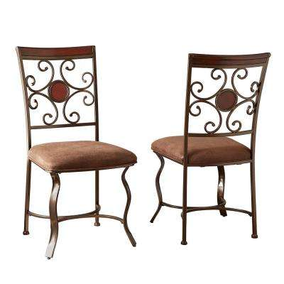 Toledo Brown Side Chairs (Set of 2)