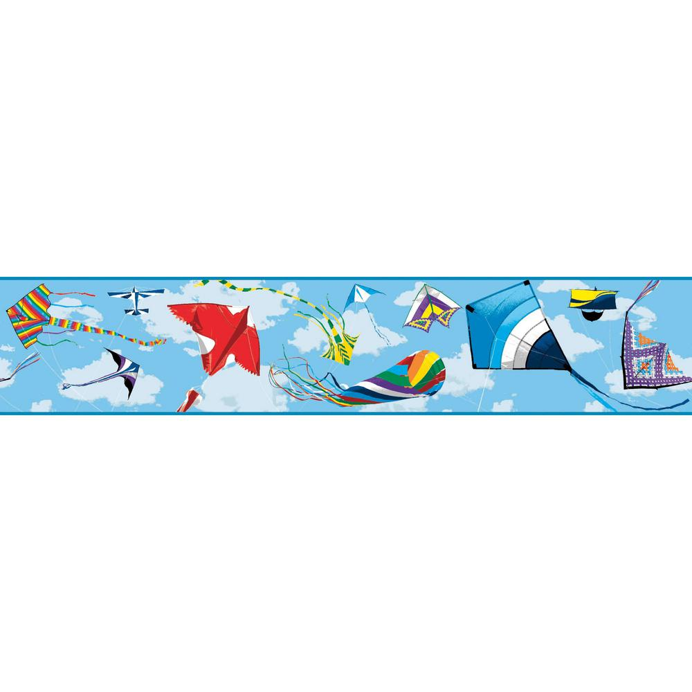 Growing Up Kids Color The Wind Removable Wallpaper Border