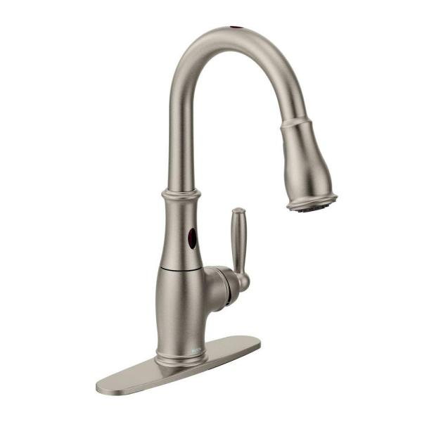 Brantford Single-Handle Pull-Down Sprayer Touchless Kitchen Faucet with MotionSense and Reflex in Spot Resist Stainless