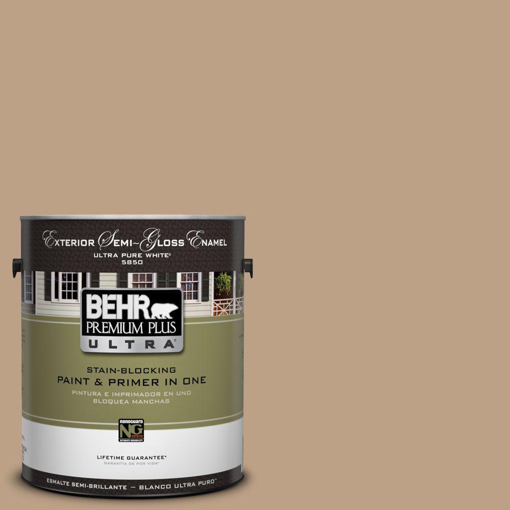 BEHR Premium Plus Ultra 1-Gal. #UL140-9 Basketry Semi-Gloss Enamel Exterior Paint