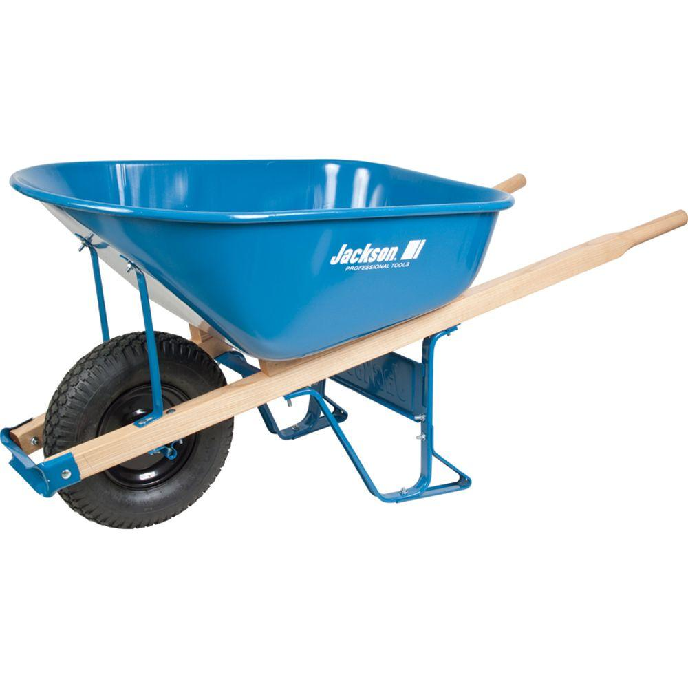 wheelbarrows at home depot jackson 6 cu ft steel wheelbarrow m6kbut12 the home depot 644