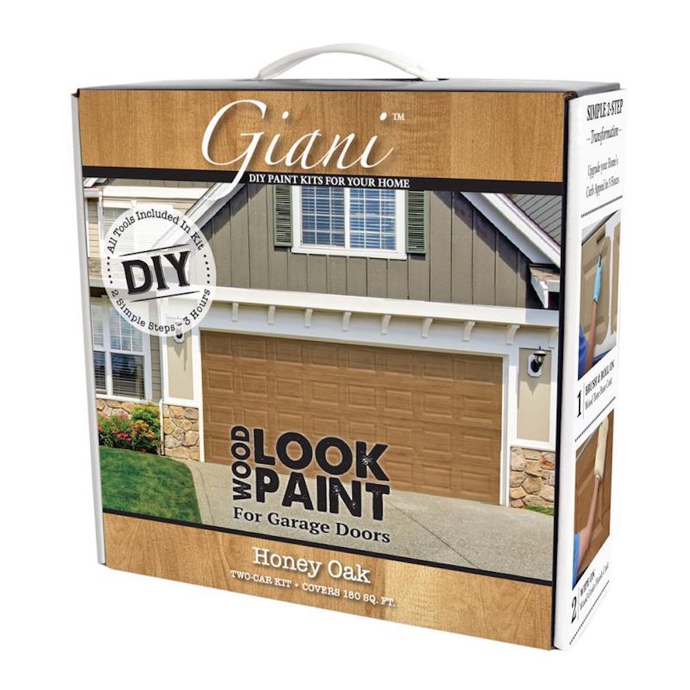 Giani Honey Oak 2 Car Garage Kit Fg Wl Hon 2 Kit The Home Depot