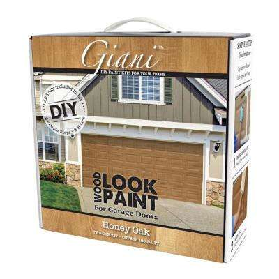 Honey Oak 2 Car Garage Kit