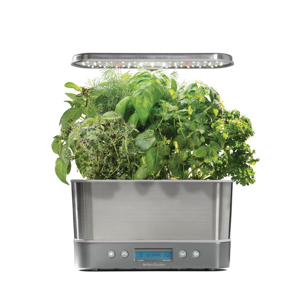 AeroGarden Harvest Elite Stainless Home Garden System