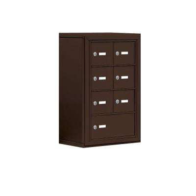 19000 Series 17.5 in. W x 25.5 in. H x 9.25 in. D 6 A/1 B Doors S-Mount Keyed Locks Cell Phone Locker in Bronze