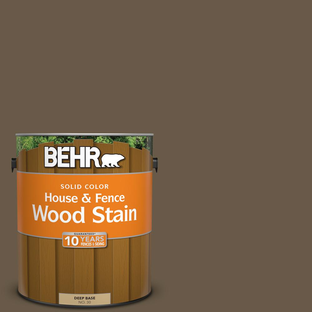 1 gal. #PPU7-25 Clove Brown Solid House and Fence Wood Stain