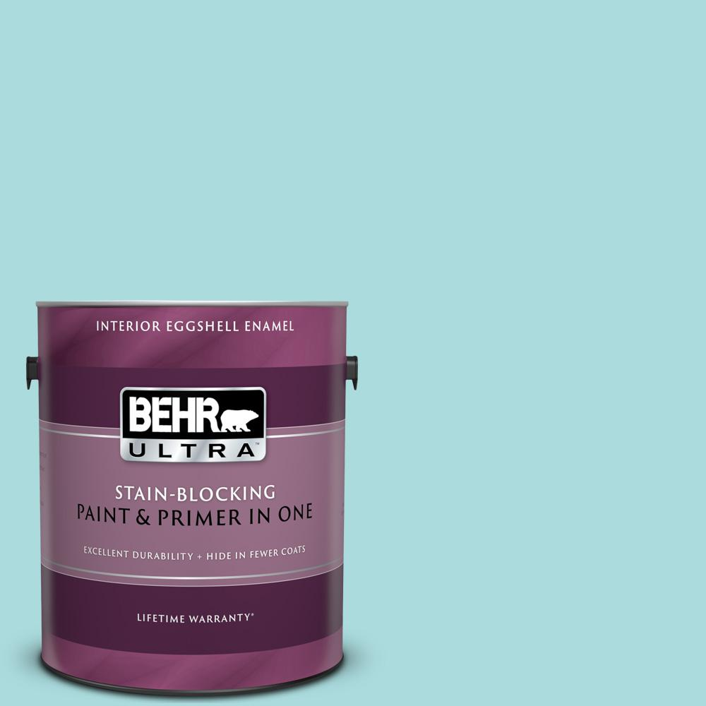 BEHR ULTRA 1 gal  #M460-2 Beachside Drive Eggshell Enamel Interior Paint  and Primer in One