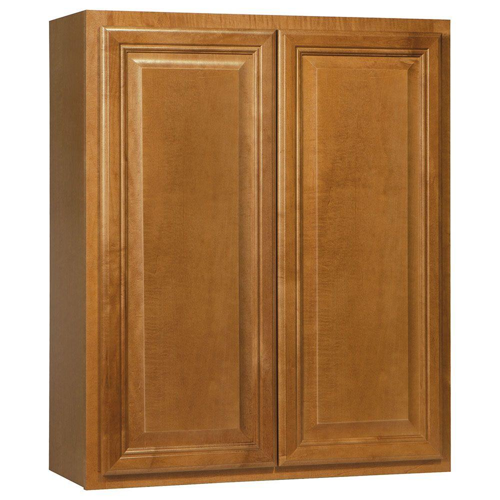 Cambria Assembled 30x36x12 in. Wall Kitchen Cabinet in Harvest
