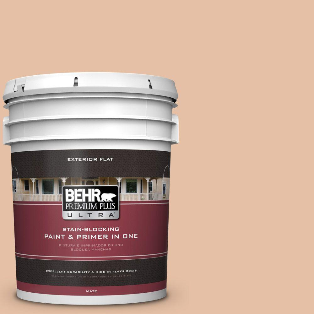 BEHR Premium Plus Ultra 5-gal. #BIC-01 Fabulous Fawn Flat Exterior Paint