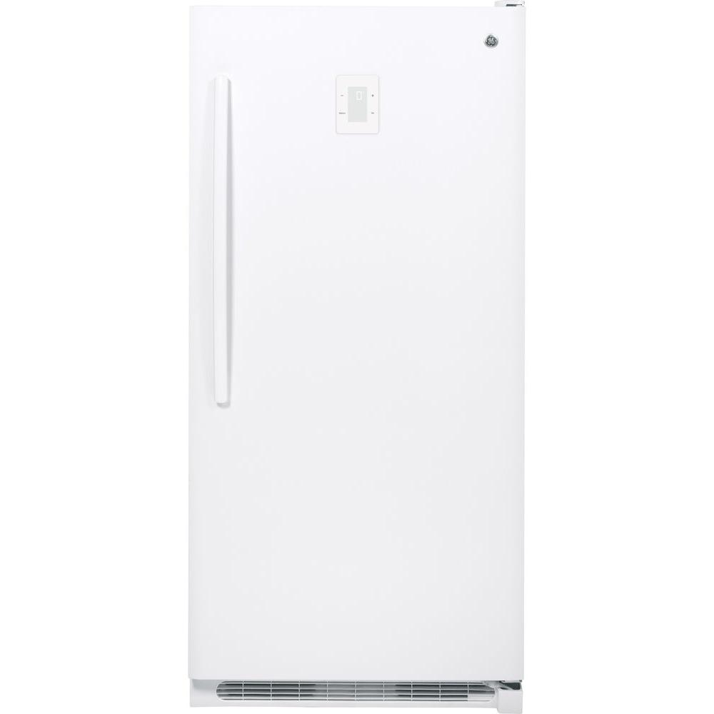 GE 20.2 cu. ft. Frost Free Upright Freezer in White