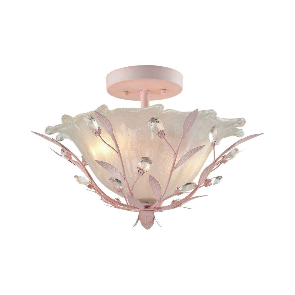 An Lighting Circeo 2 Light Pink Led Semi Flush Mount