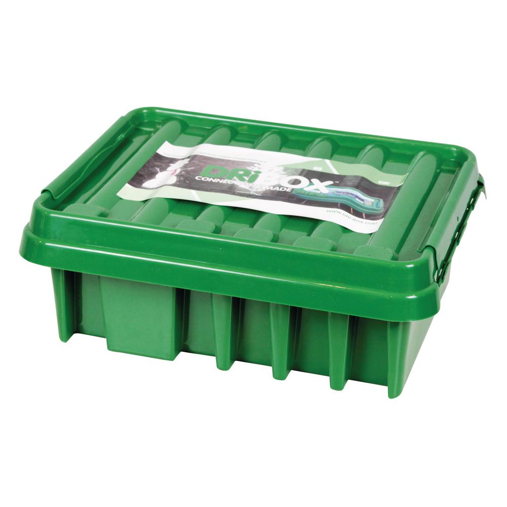 16 in. Weatherproof Powercord Connection Box, Green