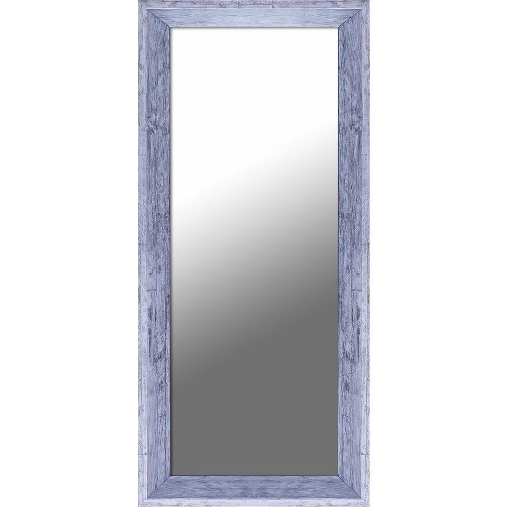 31.5 in. x 43.5 in. White with Silver Decorative Mirror ...