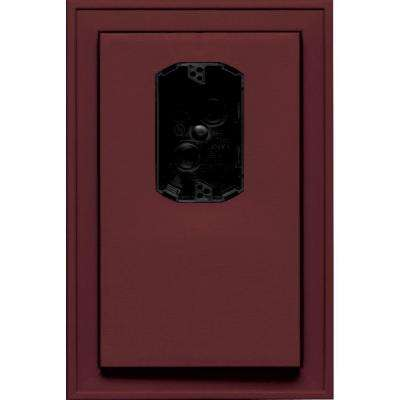 8.125 in. x 12 in. #078 Wineberry Jumbo Electrical Mounting Block Offset