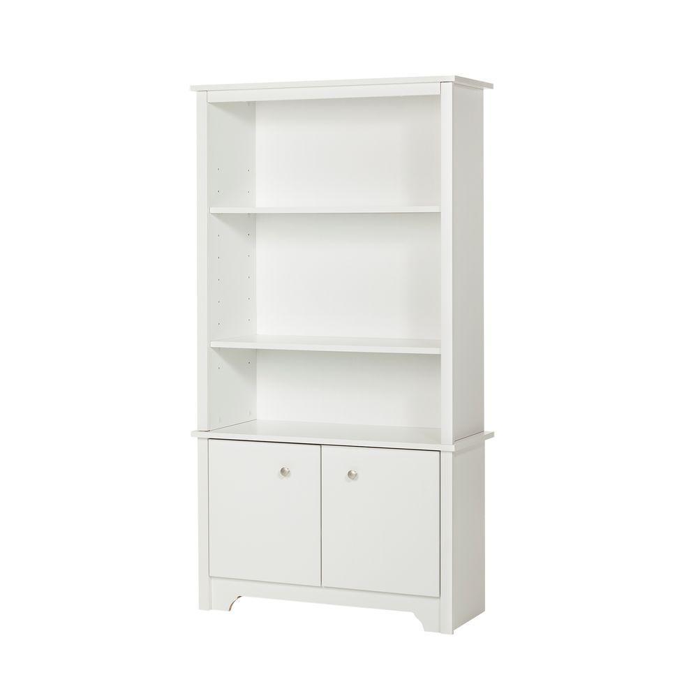 South Shore Vito Pure White Storage Open Bookcase