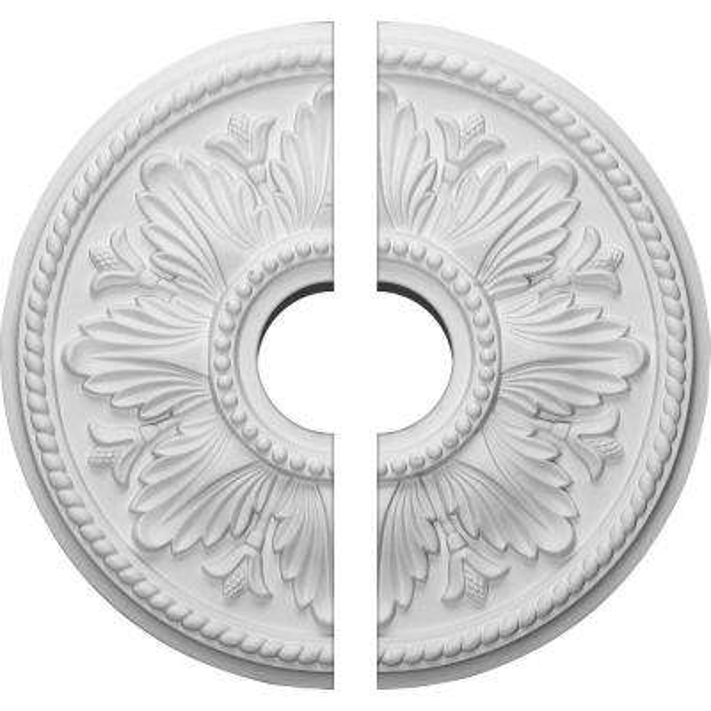 18 in. O.D. x 3-1/2 in. I.D. x 1-3/4 in. P Edinburgh Ceiling Medallion (2-Piece)