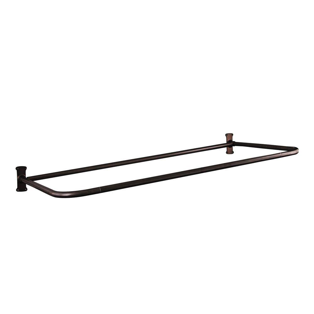 Barclay Products 54 in. x 26 in. D Shower Rod in Oil Rubbed Bronze