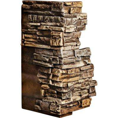1-1/2 in. x 13-3/4 in. x 25 in. Geneva Urethane Stacked Stone Outer Corner Wall Panel