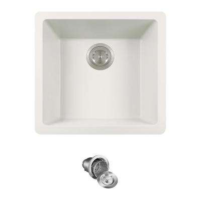 All-in-One Dualmount Granite Composite 18 in. Single Bowl Kitchen Sink in White