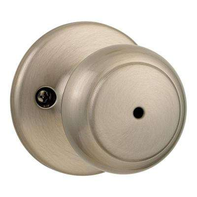Cove Satin Nickel Bed/Bath Knob
