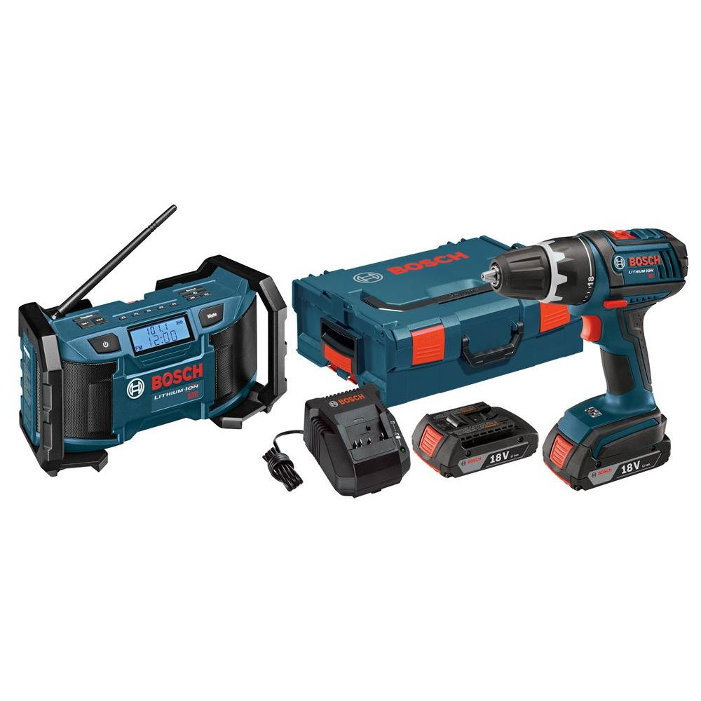 Bosch 18-Volt Lithium-Ion Cordless 1/2 in. Compact Drill/...