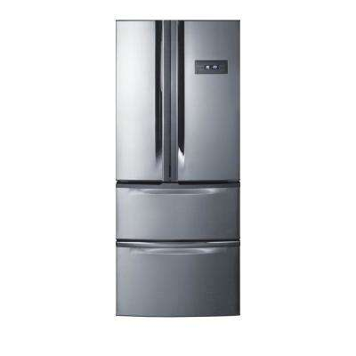 27 in. W 13.7 cu. ft. French Door Refrigerator in Stainless Steel, Counter Depth