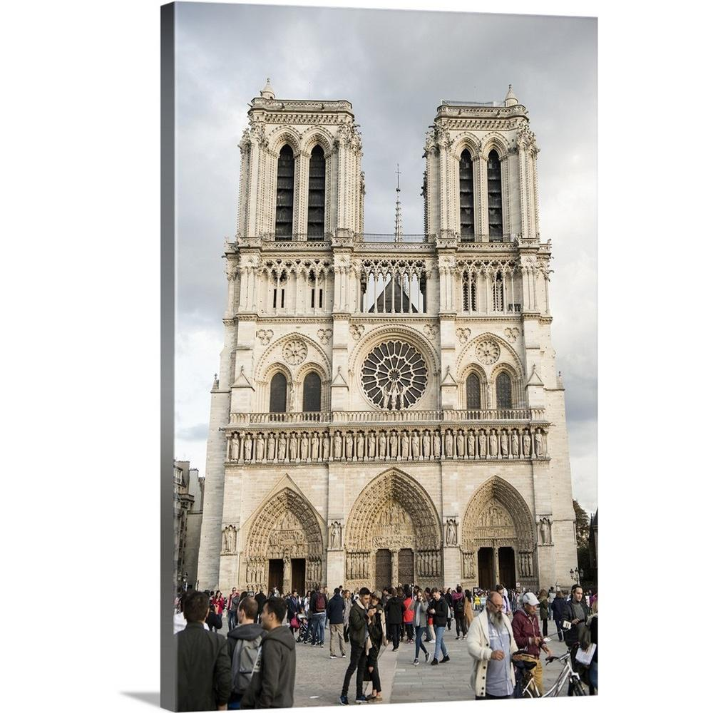 Greatbigcanvas 24 In X 36 In Notre Dame Cathedral Paris France